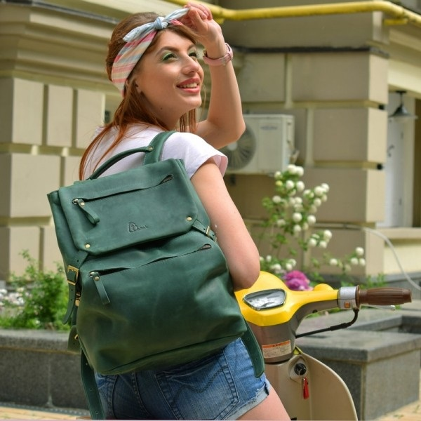 Кожаный рюкзак TR крейзи хорс