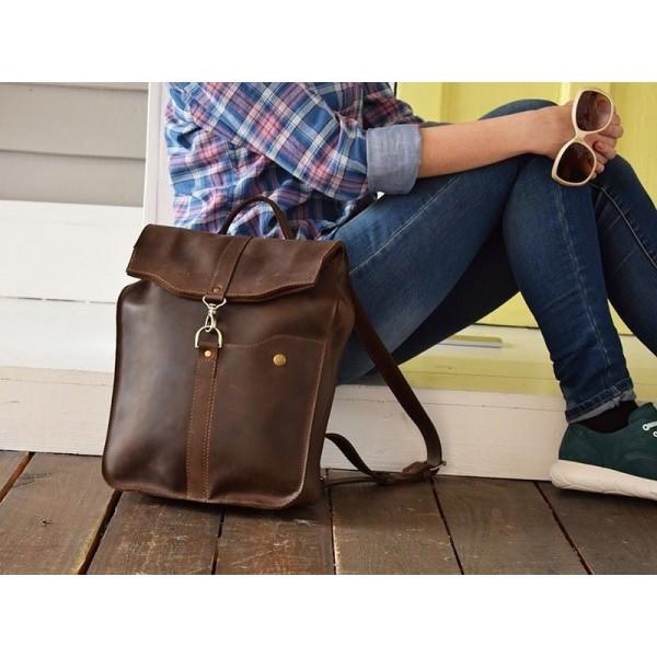 Кожаный рюкзак Карабин