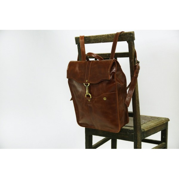 Кожаный рюкзак Карабин гранте