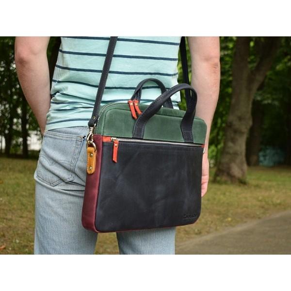 Кожаная сумка для ноутбука 15