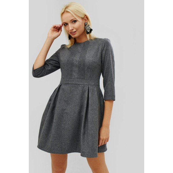 264eaa4c805460 Тепла сукня з костюмної тканини
