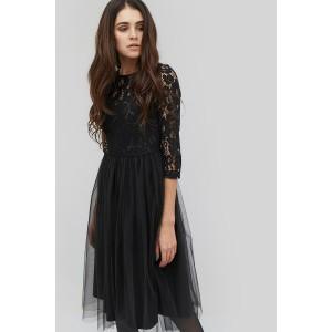 Коктейльна сукня гіпюрова