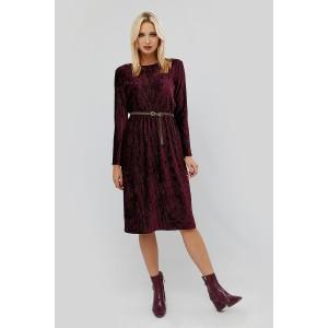 Оксамитова сукня з поясом