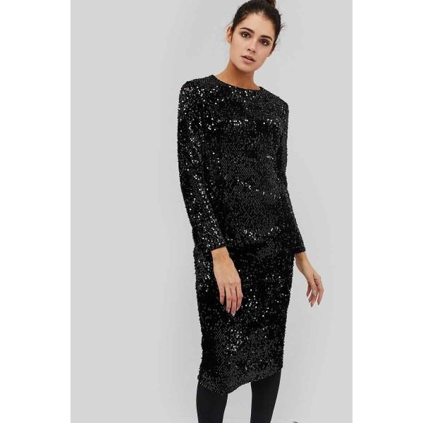 Платье с пайетками DG