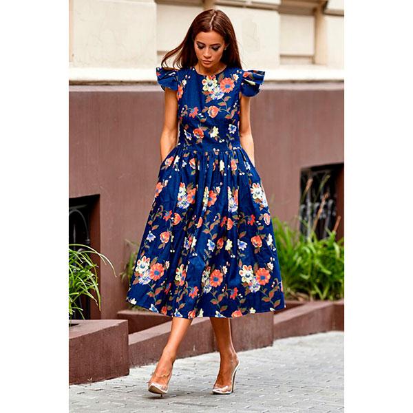 30ea8a04555 Джинсовое платье с цветочным принтом