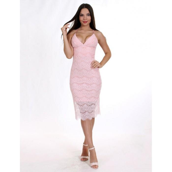 Коктейльна сукня з відкритою спиною рожеве d7e3a8a61b2d2