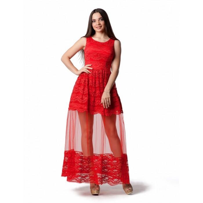 Sale Вечірня сукня з мереживом шантільї червона 5d83e22bdec90