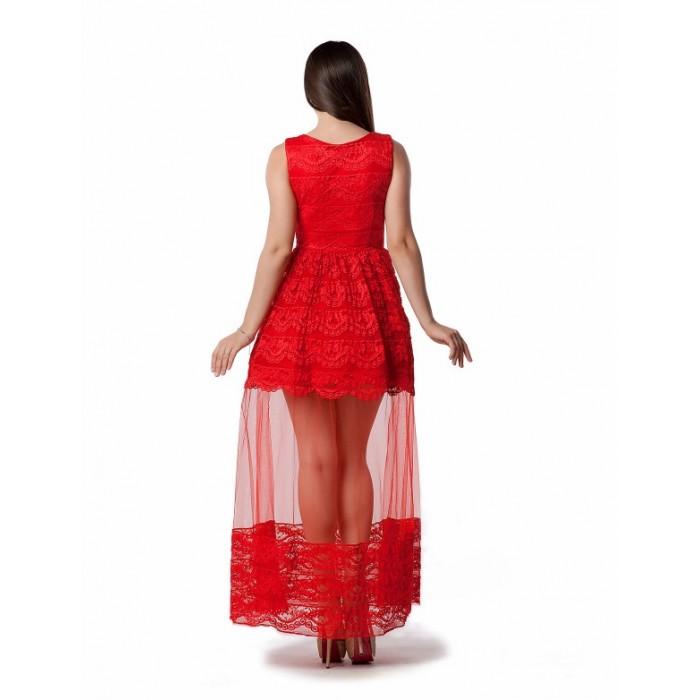 Вечірня сукня з мереживом шантільї червона Вечірня сукня з мереживом  шантільї червона ... 9e52930b864d1