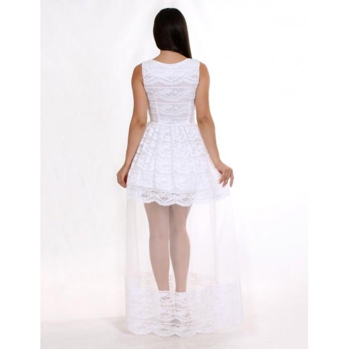 Вечірня сукня з мереживом шантільї біла Вечірня сукня з мереживом шантільї  біла ... 52af8e69fec1e