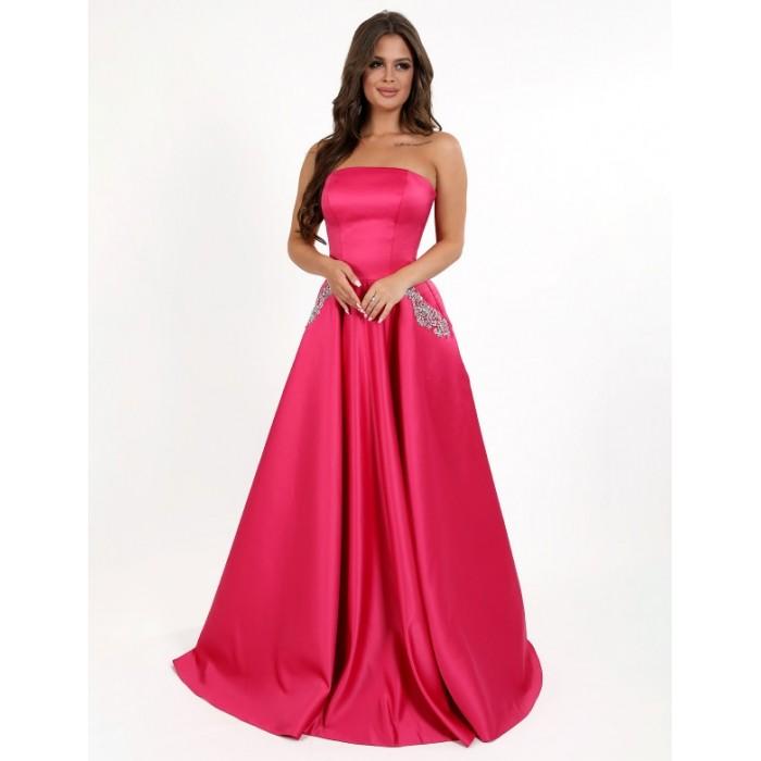 bdcae76426c2d36 Атласное вечернее платье EG3859pnk, купить Киев, Украина
