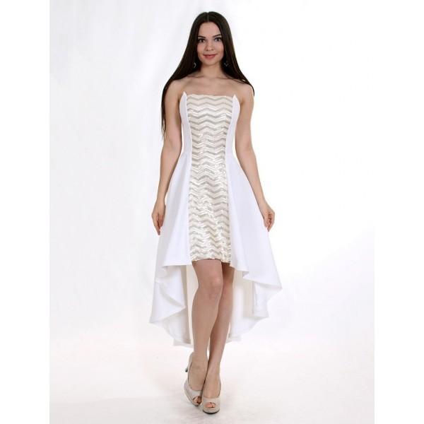 Коктейльное платье на мягком корсете