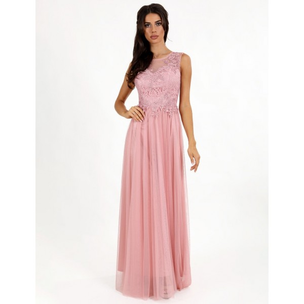 Платье с вышитым бисером лифом