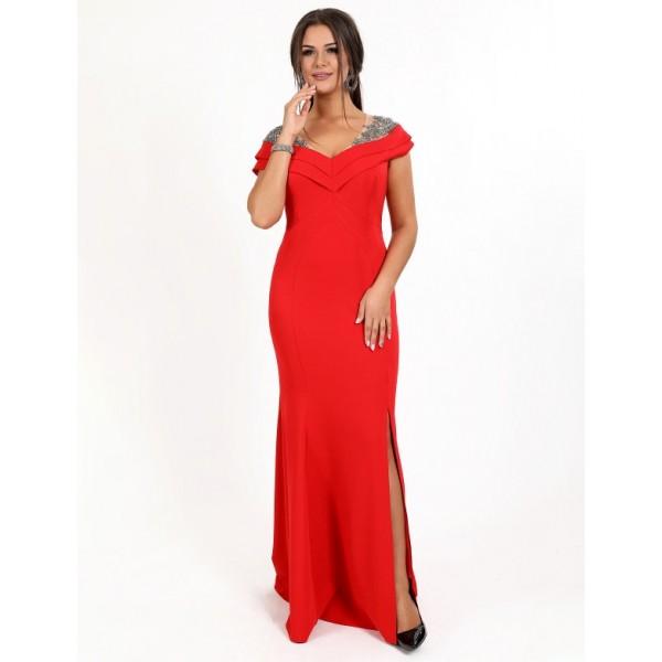 ee8e9faa2c86c4 Вечіря сукня з вишивкою камінням червоне