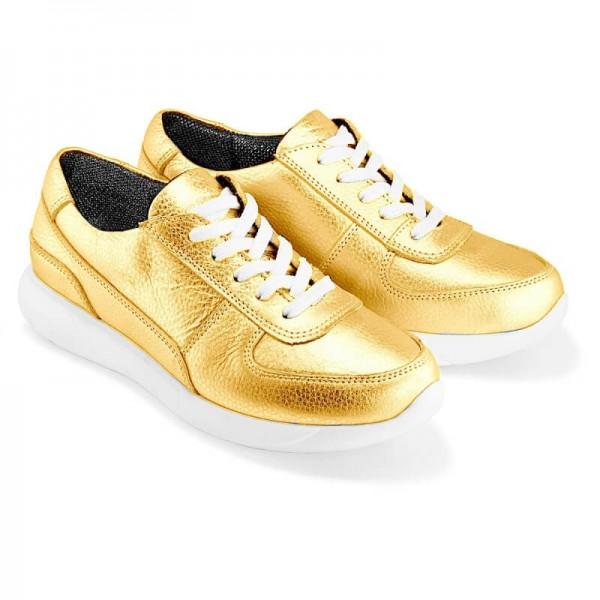 Женские кроссовки К1 золотые