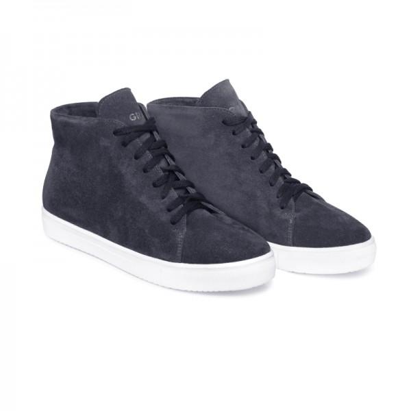 Зимние замшевые кроссовки Н1 серые
