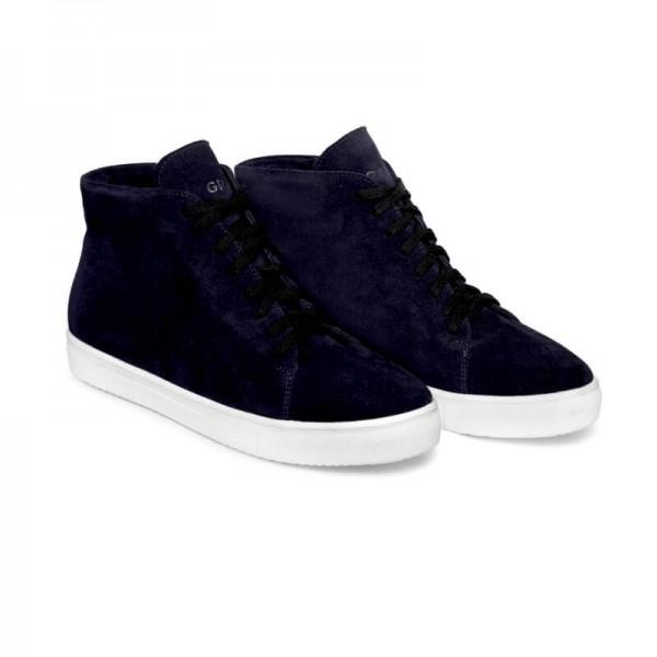 Зимние замшевые кроссовки Н1 синие