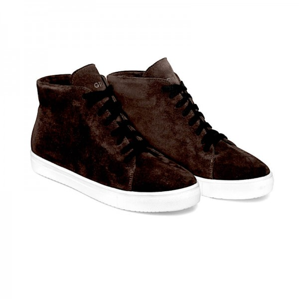 Зимние замшевые кроссовки Н1 коричневые