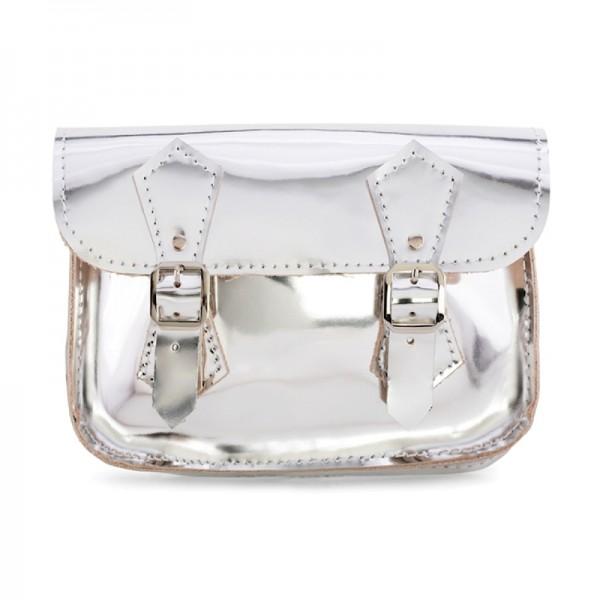 Женская сумка-портфель 5 серебро