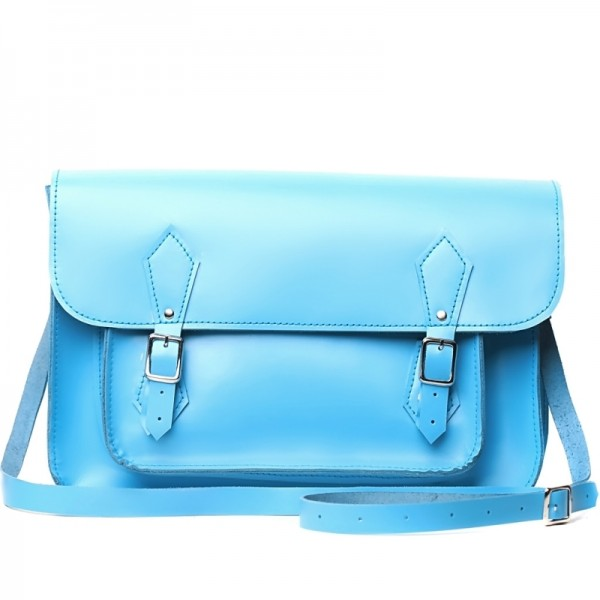 Женский портфель 14 голубой