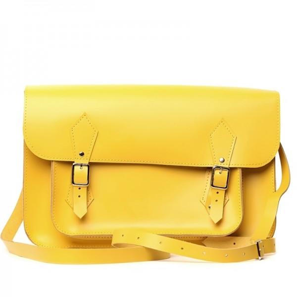 Женский портфель 14 желтый