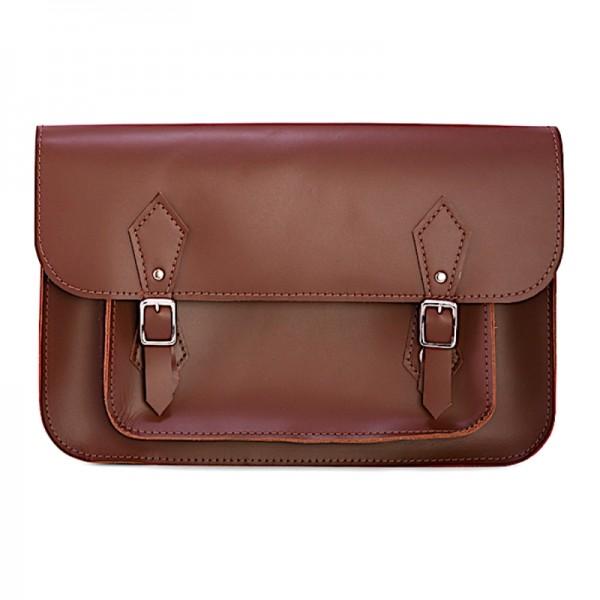 Кожаный портфель 14 коричневый