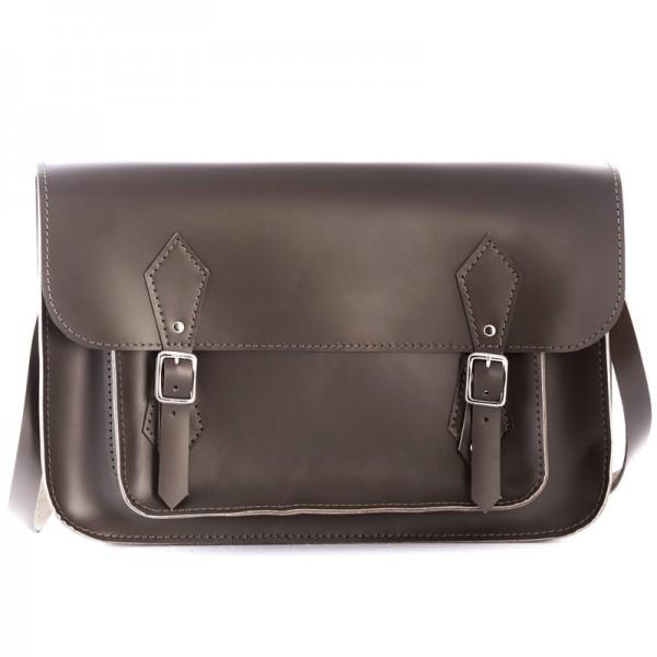 Кожаный портфель 14 оливковый