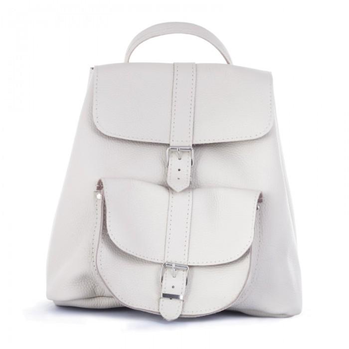 5dfa19ad33d0 Женский кожаный рюкзак 11 белый, купить рюкзак ручной работы Киев ...