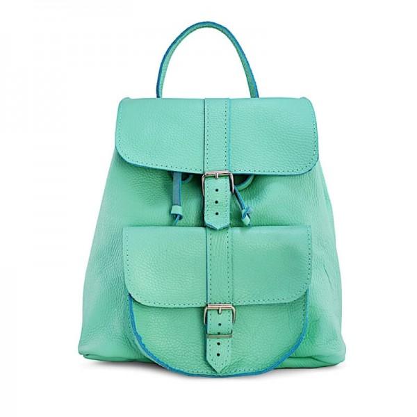 Женский кожаный рюкзак 11 мятный