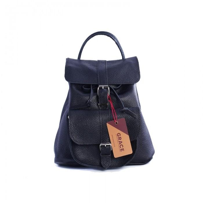 abc50535b1a8 Женский кожаный рюкзак 11 черный, купить рюкзак ручной работы Киев ...