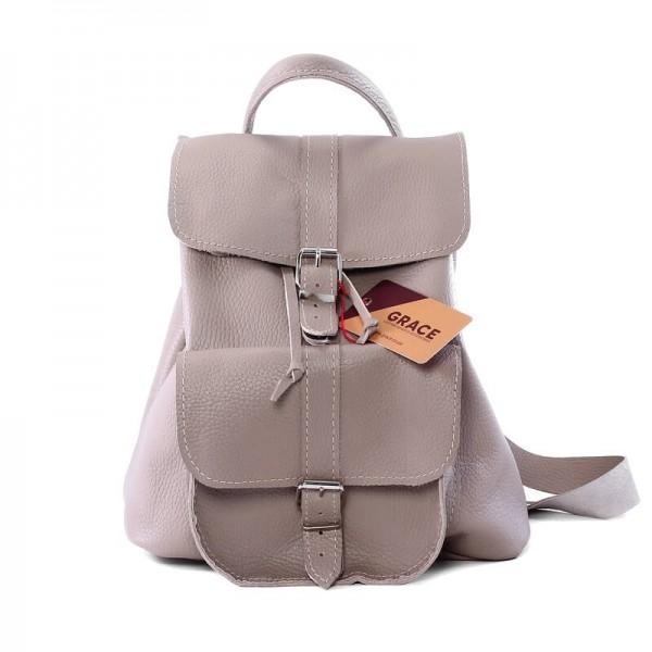 Женский кожаный рюкзак 11 бежевый