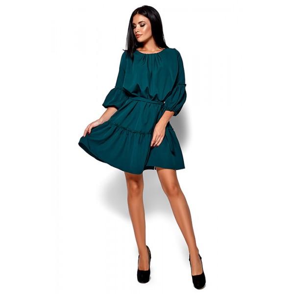 Платье свободного кроя зеленое