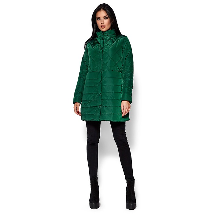 Жіноче пальто пуховик зелене a40423630af18