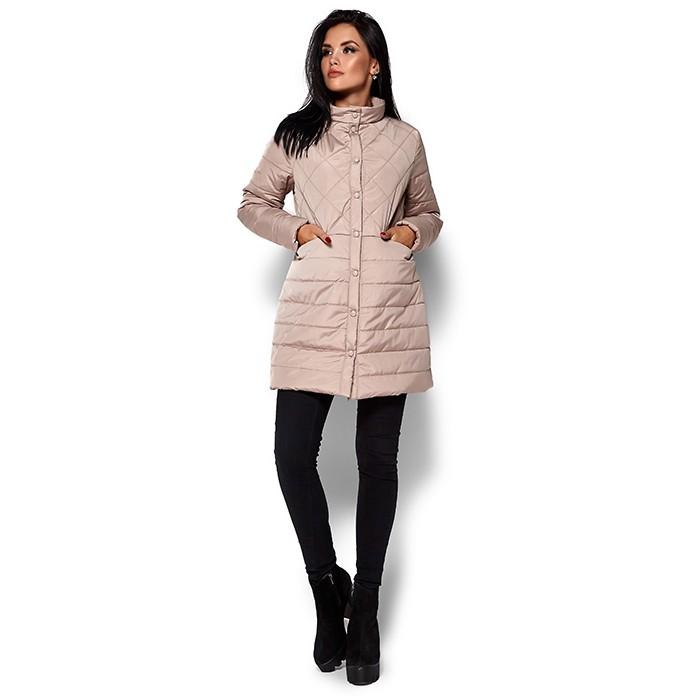 Жіноче пальто пуховик бежеве cdbd39f1a3c2d