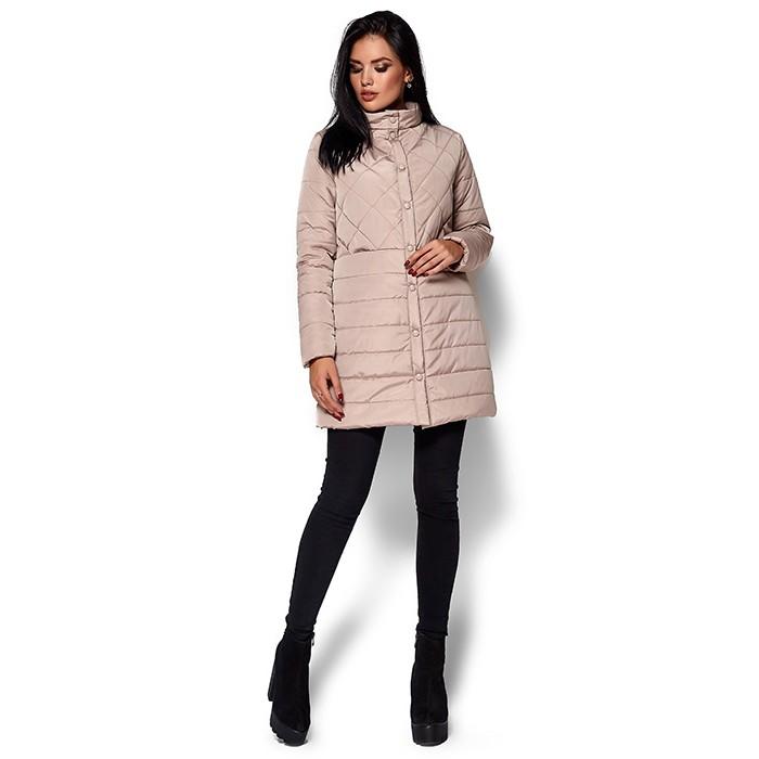 Жіноче пальто пуховик бежеве Жіноче пальто пуховик бежеве ... 758291d58c4f6