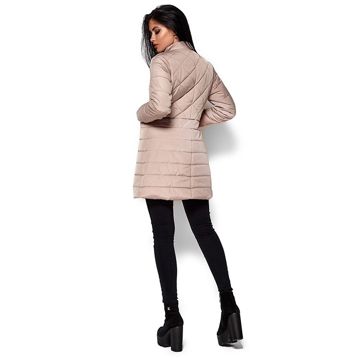 ... Жіноче пальто пуховик бежеве ... f47d06f0d740e