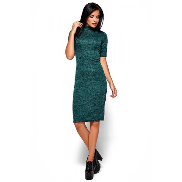 Платье-гольф зеленое