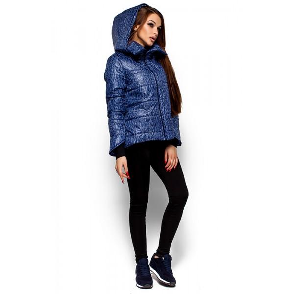 Женская короткая куртка синяя