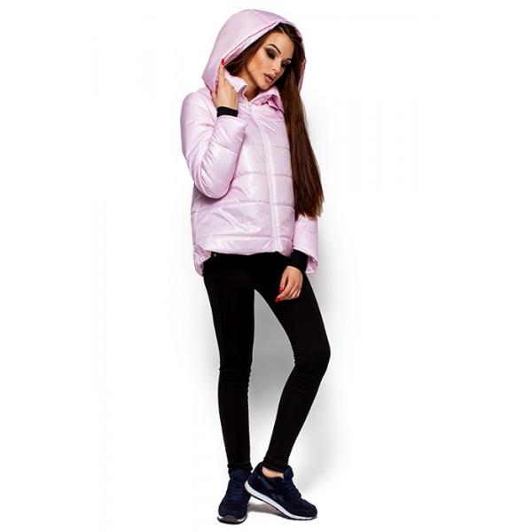 Женская короткая куртка розовая