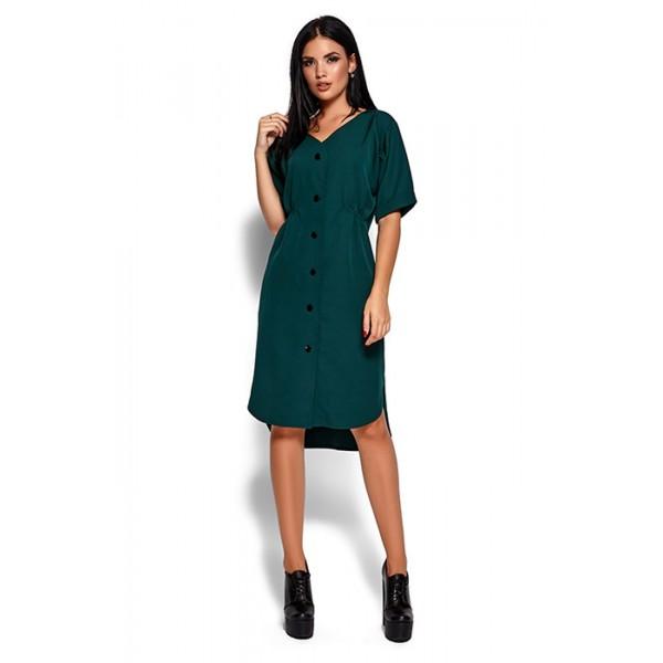 Платье Джаз темно-зеленое