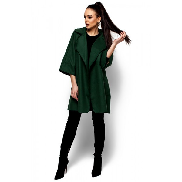 Жіноче пальто кашемірове грін 0595e25fc7301