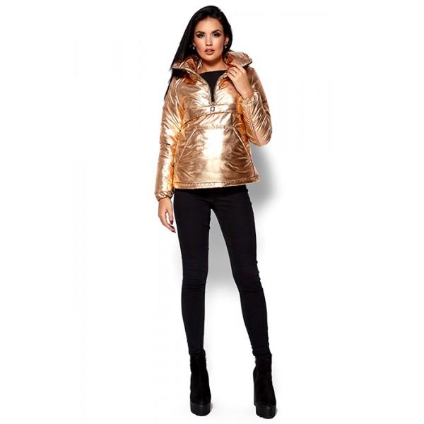 Женская куртка-анорак золото