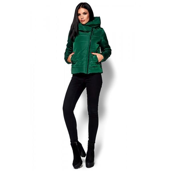 Приталенная куртка зеленая