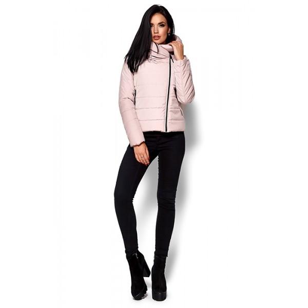 Приталенная куртка пыльно-розовая