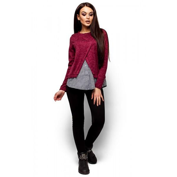 Трикотажный свитер бордо