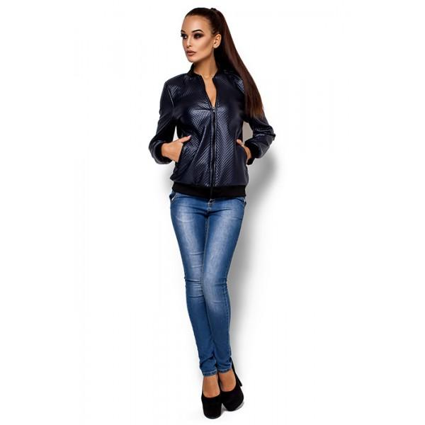 Легкая куртка-бомбер синий
