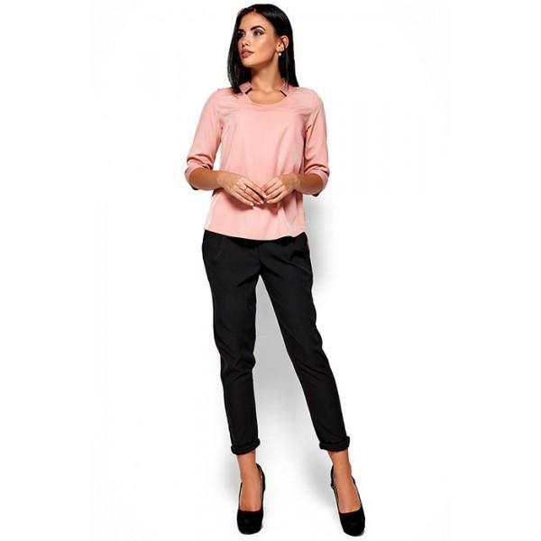 Легкая блуза персик