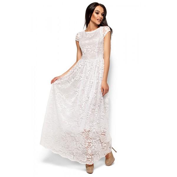 Платье из гипюра в пол