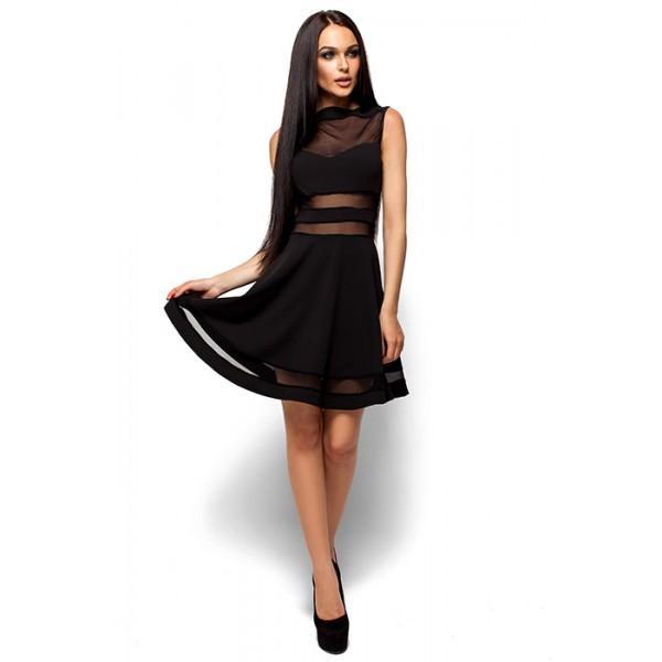 Платье с открытыми плечами блек