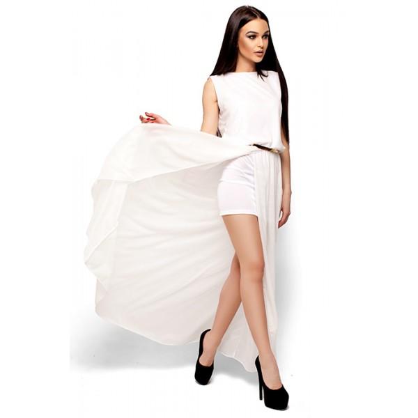 Шифонова вечірня сукня біла 150a2d9749926