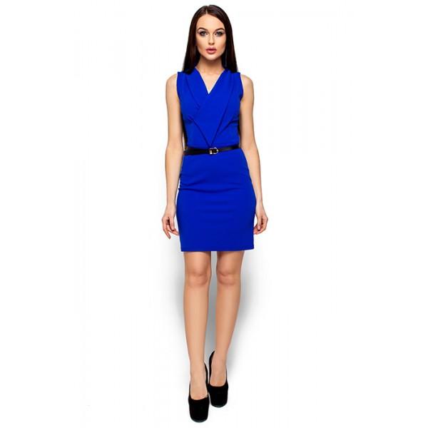Платье с оригинальным вырезом dbl